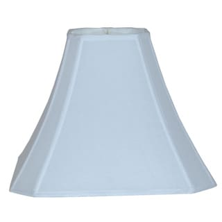 Bright White Cut Corner Silk Square Lamp Shade