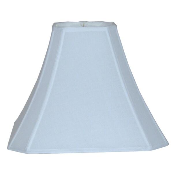 Bright White Cut Corner Silk Square Lamp Shade