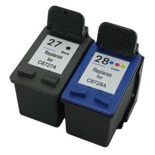 HP 27 28/ C8727AN C8728AN Black Color Ink Cartridge Set (Remanufactured)