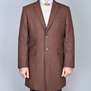 Chestnut Wool Single Breasted Carcoat