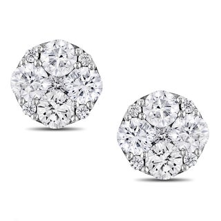 Miadora 14k White Gold 1ct TDW Diamond Earrings (G-H, I1-I2)