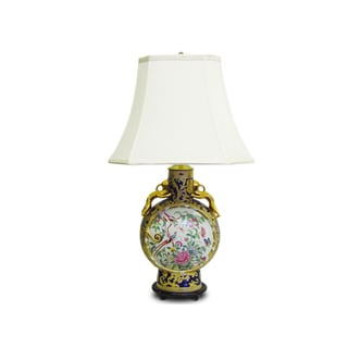 Royal Medallion Moon Vase Porcelain Table Lamp