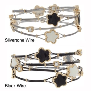 NEXTE Jewelry Star Beads and Rhinestone Cable Stack Bracelets