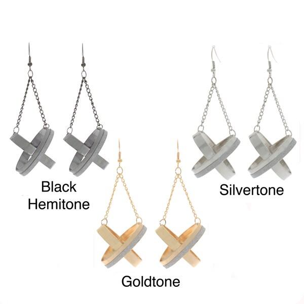 NEXTE Jewelry Brass X Dangle Fashion Earrings
