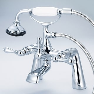Water Creation F6-0003-01 Vintage Classic 7-inch Spread Deck Mount Tub Faucet with Handheld Shower
