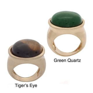 NEXTE Jewelry Goldtone Natural Stone Cabochon Ring
