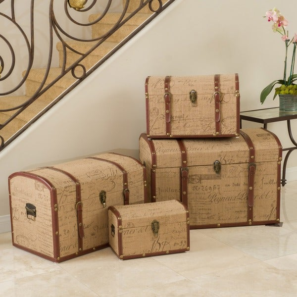 Christopher Knight Home Script-themed Storage Cases (Set of 4)