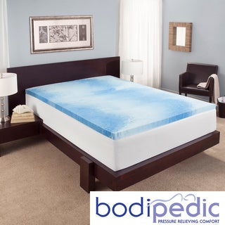 Bodipedic Essentials 2-inch Swirl Gel Memory Foam Mattress Topper