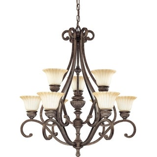 Nuvo 'Fortunata' 9-light Lisbon Bronze Chandelier