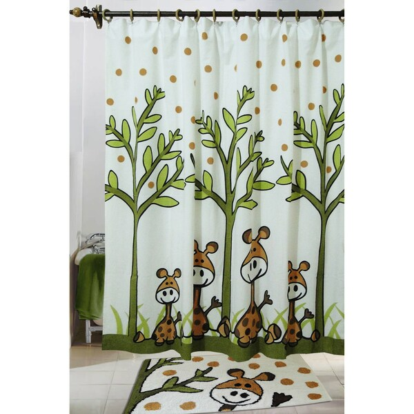 Jovi Home Giraffe Shower Curtain