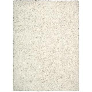 Nourison Hand-woven Zen White Shag Rug (5'6 x 7'5)