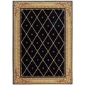 Ashton House Diamond Black Wool Rug