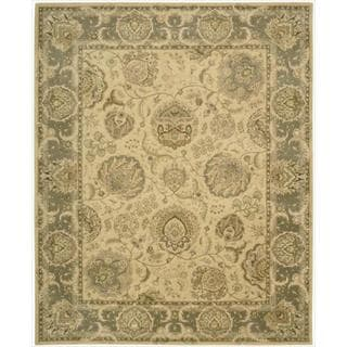 Nourison 2000 Hand-tufted Kashan Light Gold Wool Rug