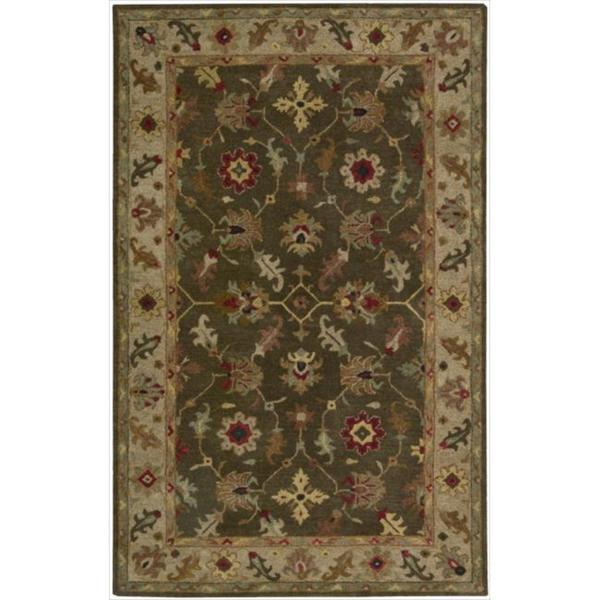 Nourison Hand-Knotted Tahoe Espresso Wool Rug