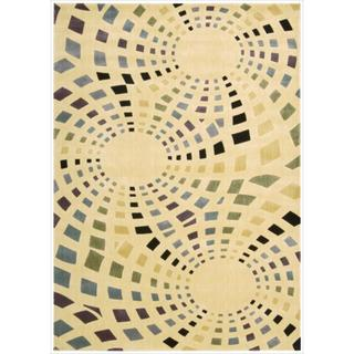 Nourison Parallels Geometric Ivory Rug