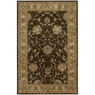 Nourison 2000 Hand Tufted Wool Silk Kashan Brown Rug