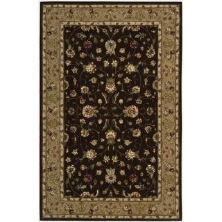 Nourison 2000 Hand-tufted Kashan Brown Wool Rug (7'9 x 9'9)