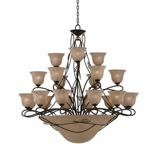 Whisper 27 light Blacksmith Bronze Chandelier