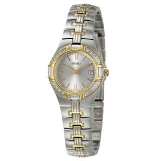 Seiko Women's 'Diamond' Stainless Steel and Yellow Goldplated Quartz Watch