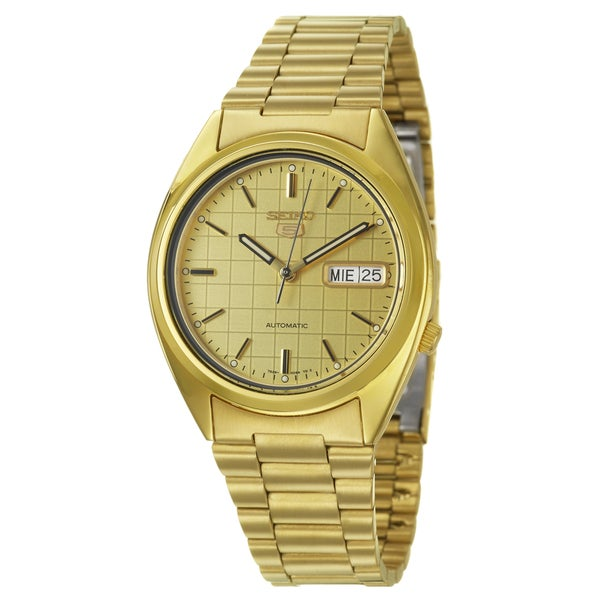 Seiko Men's '5 Sports Automatic' Stainless Steel Yellow Goldplated Automatic Watch