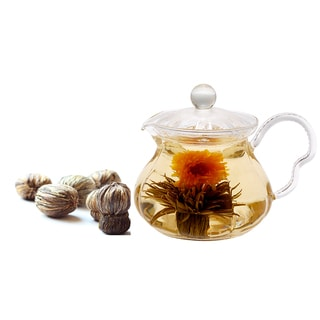 Tea Beyond 3-piece Tea Pot Fairy Blooming Tea Gift Set