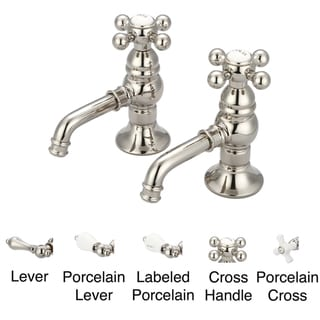 Water Creation F1-0002-05 Vintage Classic Basin Cocks Lavatory Faucet