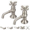 Water Creation F1-0002-02 Vintage Classic Basin Cocks Lavatory Faucet