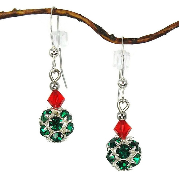 Jewelry by Dawn Green Christmas Holiday Ornament Earrings