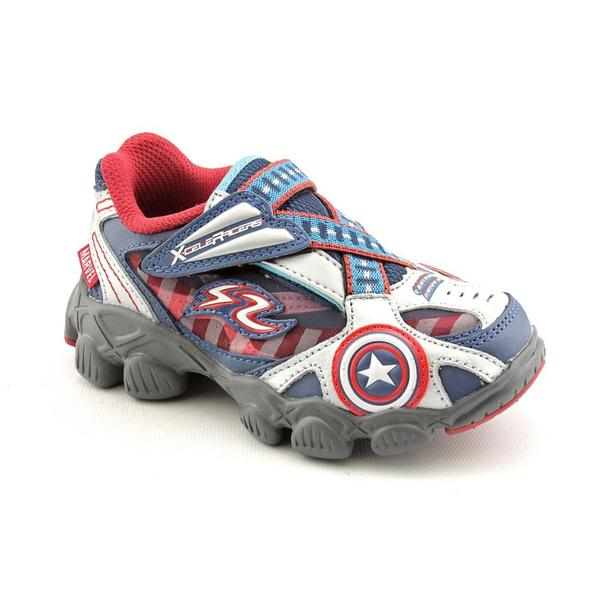 Stride Rite Boy's 'X-Celeracers Captain America' Leather Casual Shoes