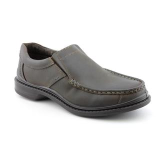 Hush Puppies Men's 'Preston' Leather Casual Shoes Wide