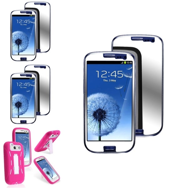 BasAcc Case/Anti-Scratch Mirror Screen Protector for Samsung© Galaxy S3