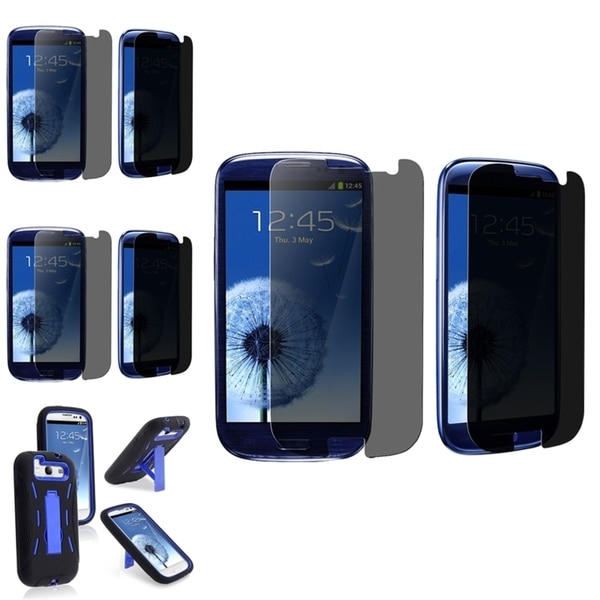 INSTEN Phone Case Cover/ Privacy Filter Screen Protector for Samsung Galaxy S3