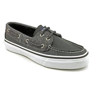 Sperry Top Sider Men's 'Bahama 2-Eye Herringbone/Leather' Leather Casual Shoes