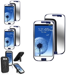 INSTEN Phone Case Cover/ Transparent Mirror Screen Protector for Samsung Galaxy S3