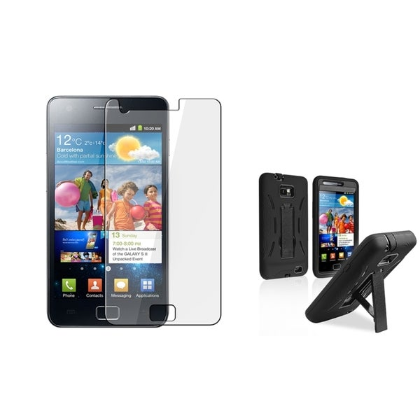 INSTEN Hybrid Phone Case Cover/ LCD Protector for Samsung Galaxy S II i9100