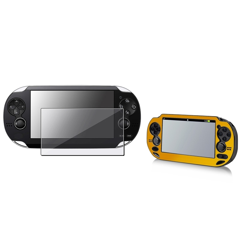 BasAcc Gold Aluminum Case/ Screen Protector for Sony Playstation Vita