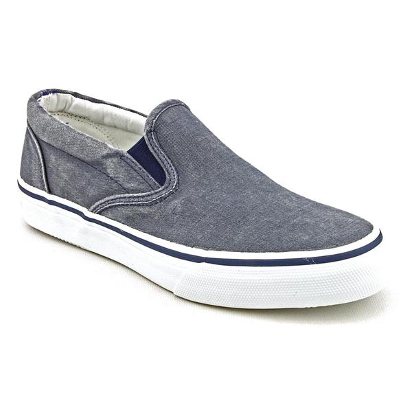 sperry top sider s striper slip on basic textile