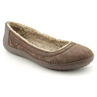 Crocs Women's 'Berryessa Suede Flat' Regular Suede Casual Shoes