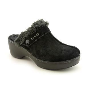 Crocs Women's 'Cobbler Leather Clog' Regular Suede Casual Shoes