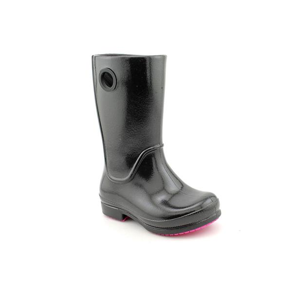 Crocs Girl's 'Wellie Patent Rain Boot' Man-Made Boots