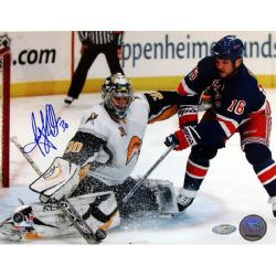 Steiner Sports Ryan Miller Kick Save vs Sean Avery Signed Photo