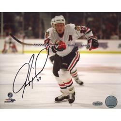 Steiner Sports Jeremy Roenick Chicago Blackhawks Skating Up Ice Horizontal Signed Photo