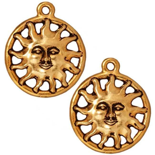 Beadaholique Goldplated Pewter Radiant Sunshine Charms (Set of 2)