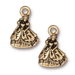 Beadaholique Goldplated Pewter Cinderella Princess Charms (Set of 2)