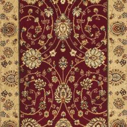 Safavieh Majesty Extra Fine Red/ Beige Runner (2'3 x 10')