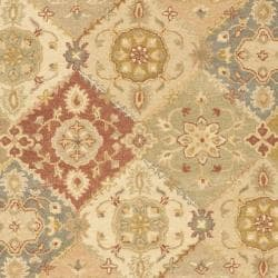 Handmade Antiquities Bakhtieri Multi/ Beige Wool Rug (6' x 9')