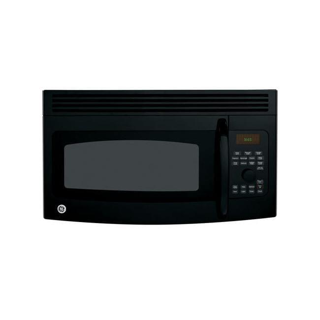 GE Profile Spacemaker JVM1665DNBB Black 1.6-cu-ft Over-the-range Microwave Oven