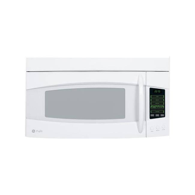 GE Profile PVM2070DMWW White Spacemaker 2-cu-ft Over-the-range Microwave Oven