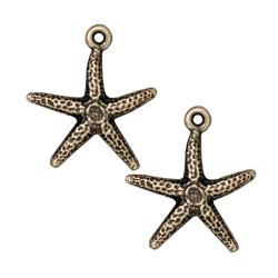 Beadaholique Brassplated Pewter Starfish Charms (Set of 2)