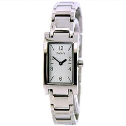 DKNY Women's Stainless Steel Rectangle Analog Watch